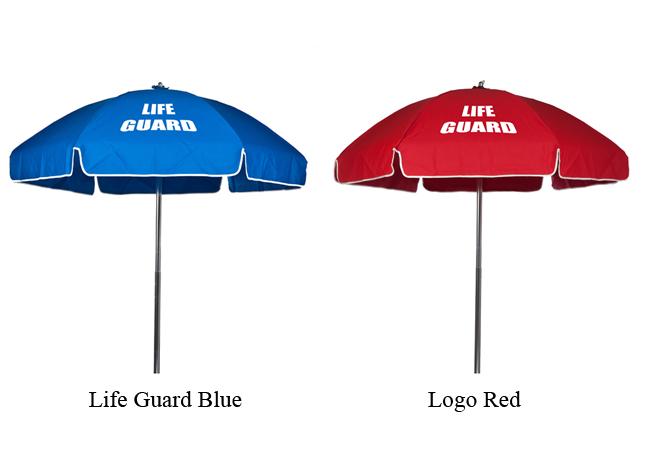 6 5 Foot Acrylic Lifeguard Printed Tilt Umbrella