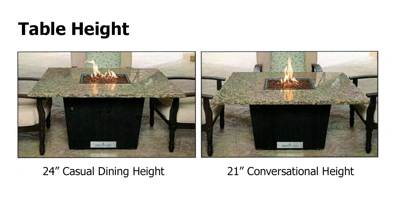 42 Quot Round Santiago Commercial Outdoor Fire Pit Dining