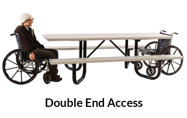 Double End Access ADA Compliant Picnic Table