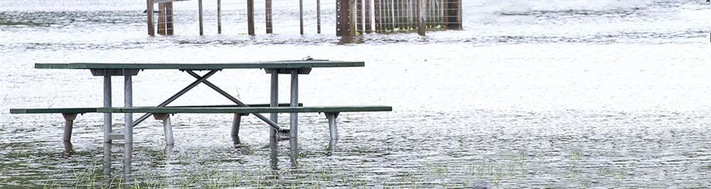 Flooded Picnic Table