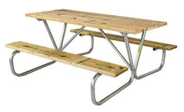 Commercial Wooden Picnic Table, Portable