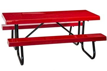 6 Ft. Fiberglass Picnic Table With Galvanized Welded Frame, Portable