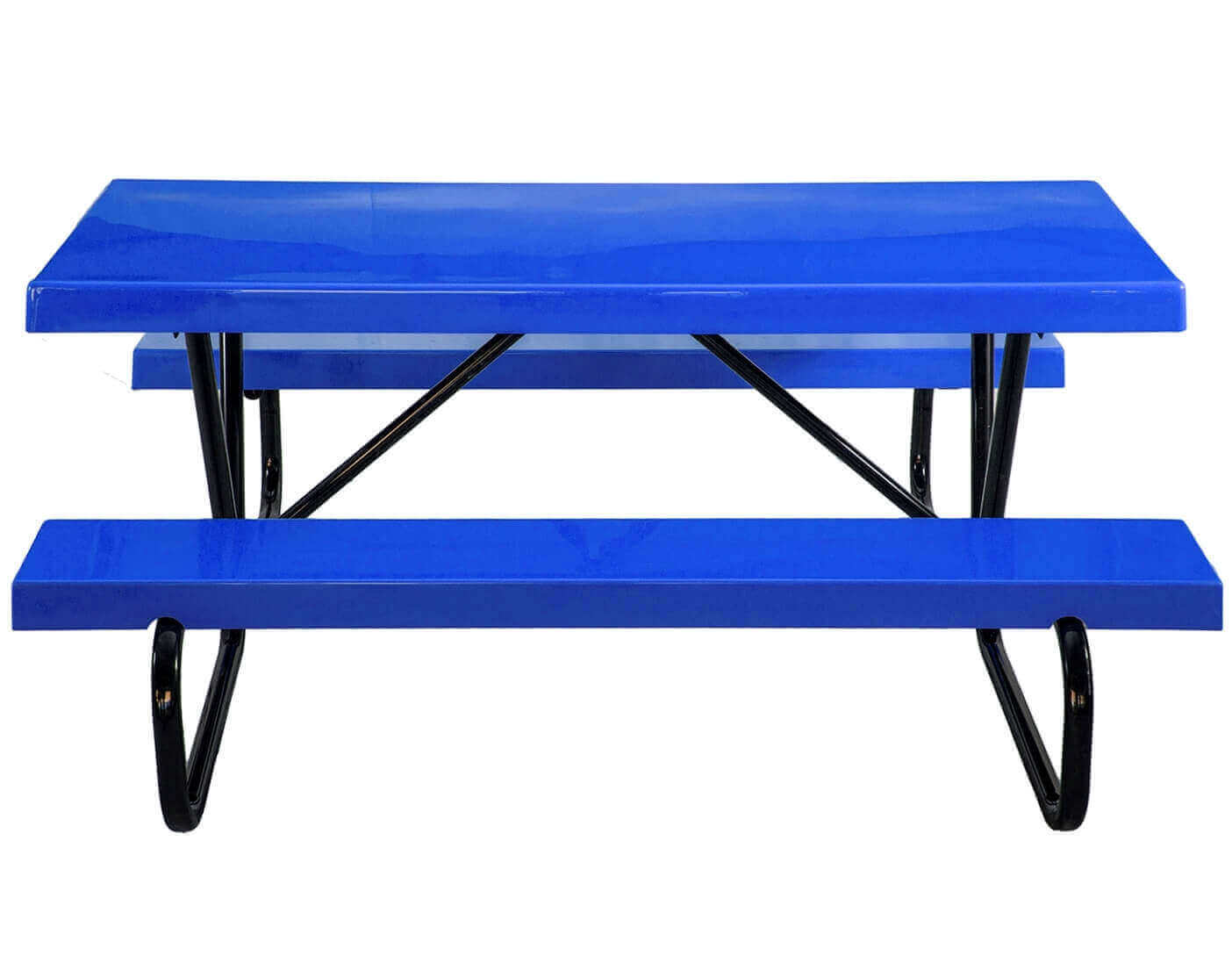 8 ft fiberglass picnic table with bolted 1 5 8 o d tube steel