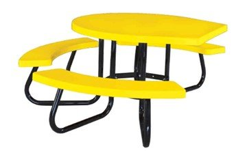 Round Fiberglass Picnic Table, Wheelchair Accessible, Portable