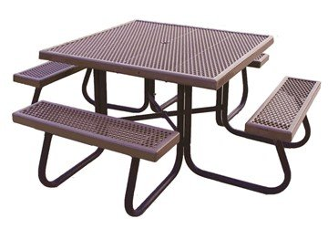 products tagged with plastic coated metal picnic table