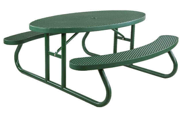 oval plastisol picnic table with galvanized steel frame - Metal Picnic Table Frame