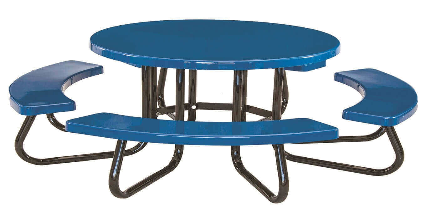 48 round childrens fiberglass picnic table with 1 5 8 o d tube