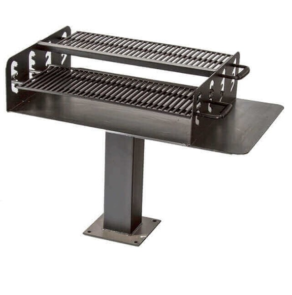 Group Grill With 1008 Sq. In Cooking Surface, Four Position, Inground Or Surface Mounted