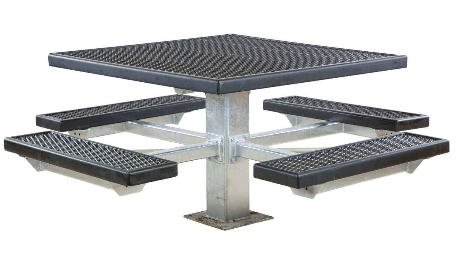 46 Quot Square Plastisol Coated Expanded Metal Picnic Table