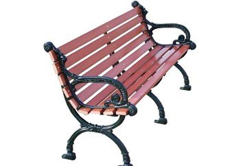 Victorian Park Bench With Recycled Plastic And Cast Aluminum Frame