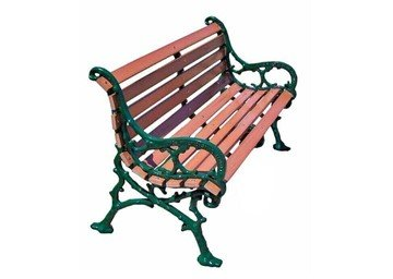 Woodland Recycled Plastic Park Bench with Cast Aluminum Frame
