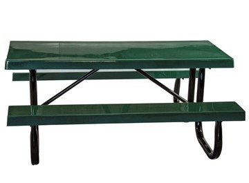 6 Ft. Heavy Duty Fiberglass Picnic Table With Welded Galvanized Steel Frame