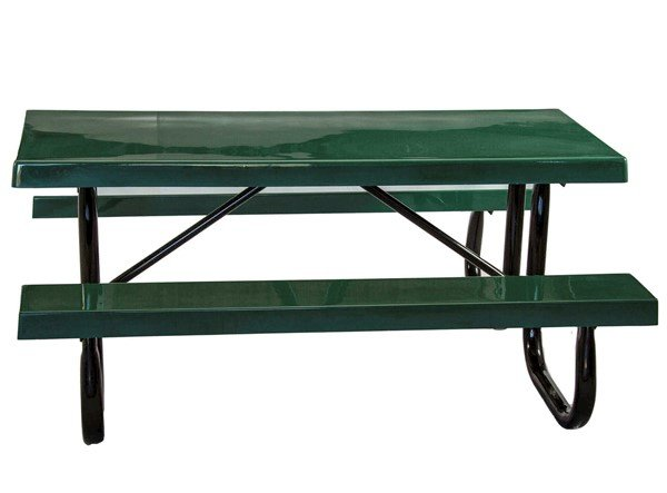 Ft Heavy Duty Fiberglass Picnic Table With Welded Galvanized - Heavy duty picnic table frames