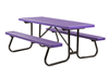 6 Ft. Plastisol Coated Metal Picnic Table with Welded Galvanized Frame