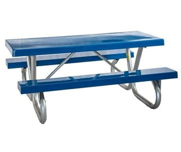 "6 Ft. Fiberglass Picnic Table With Galvanized 2-3/8"" Bolted Frame"
