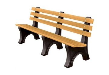 Picture of 8 Ft. Recycled Plastic Park Garden Bench With Back - 205 Lbs