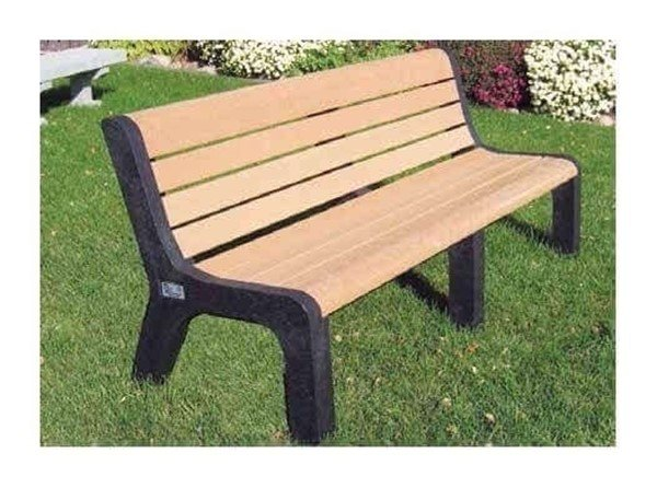 Evergreen Series Heavy Duty High Back Recycled Plastic Garden Bench 4 5