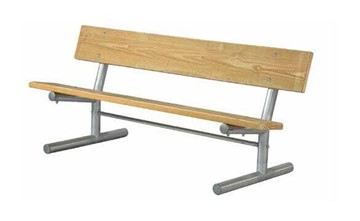 Portable Wooden Plank Bench with Galvanized Steel Frame - 6 or 8 ft.