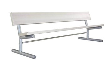 Portable Aluminum Plank Bench with Galvanized Steel Frame - 6 or 8 ft.