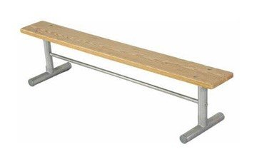Portable Wooden Backless Sport Bench with Galvanized Steel Frame - 6 or 8 ft.