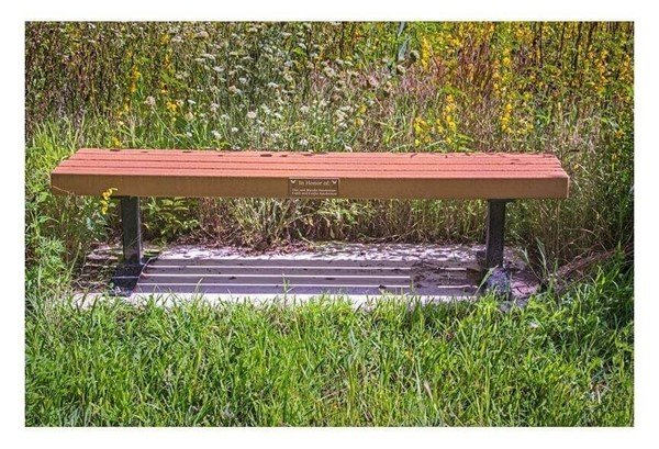 Flat Wooden Slat Park Bench Without Back