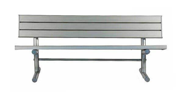 Portable Aluminum Slatted Park Bench with Galvanized Steel Frame - 6 or 8 ft.