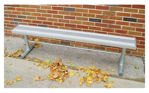Portable Aluminum Backless Sports Bench With Galvanized Steel Frame - 6 FT.