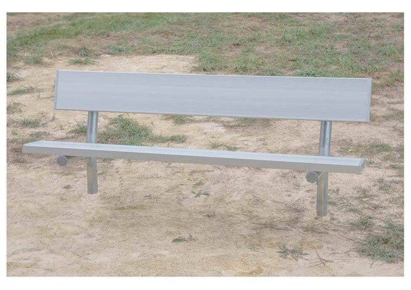 Stationary Aluminum Park Bench With Galvanized Steel Frame