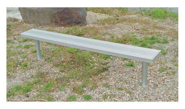 Stationary Aluminum Backless Sports Bench With Galvanized Steel Frame - 6 ft.