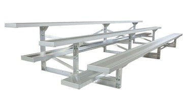 15 ft. 3 Row Portable Aluminum Bleacher, Seats 30 - 223 Lbs.