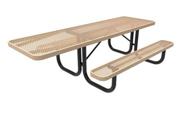 RHINO 8 ft. Thermoplastic Polyolefin Coated ADA Compliant Picnic Table with Extended Top