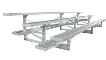 21 ft. 3 Row Portable Aluminum Bleacher, Seats 42