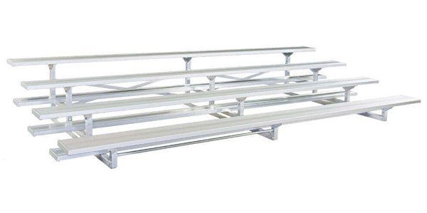 4 Row Portable Aluminum Bleacher Without Guardrails And Double Footboards