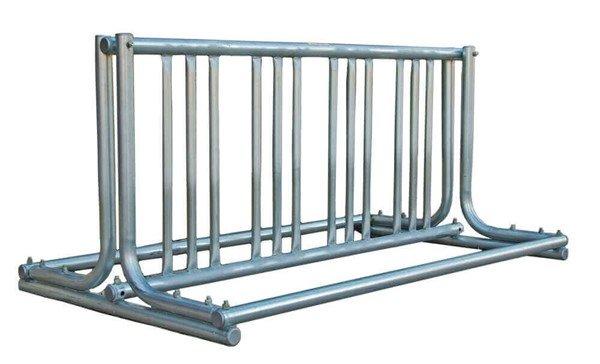 "8 Space ""J"" Style Grid Style Bike Rack, Galvanized Steel"