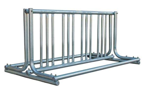 "14 Space ""J"" Style Grid Style Bike Rack, Galvanized Steel"