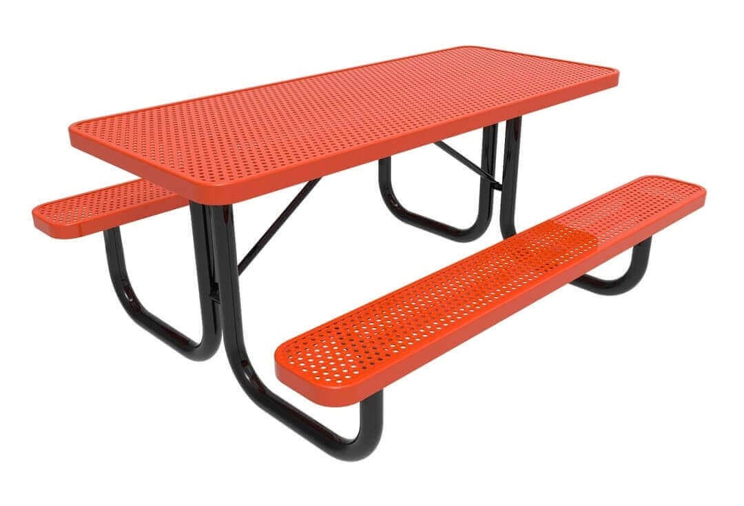 Metal Covered Tables : Rhino ft thermoplastic polyolefin coated picnic table