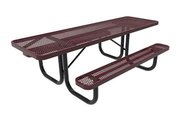 RHINO ADA 8 ft. Thermoplastic Polyolefin Coated Picnic Table