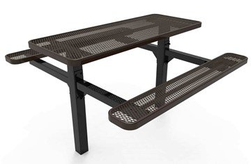 Picture of RHINO 6 ft. Thermoplastic Polyolefin Coated Double Pedestal Picnic Table - Quick Ship