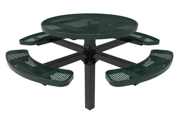 """Picture of RHINO 46"""" Round Thermoplastic Polyolefin Coated Pedestal Picnic Table - Quick Ship"""