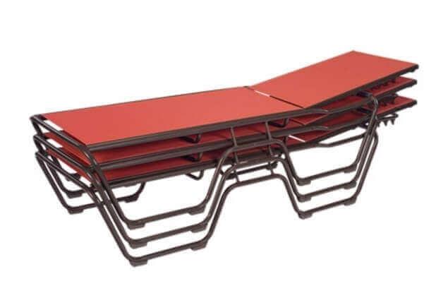 St maarten chaise lounge commercial aluminum frame with for Aluminum frame chaise lounge