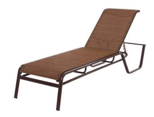 Monterey chaise lounge commercial aluminum frame with for Chaise furniture commercial