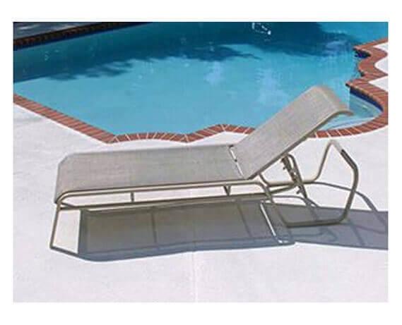 Monterey chaise lounge commercial aluminum frame with for Aluminum frame chaise lounge