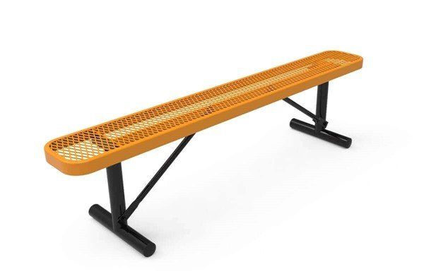 Picture of RHINO 6 Ft. Thermoplastic Polyolefin Coated Portable Bench Without Back - Quick Ship