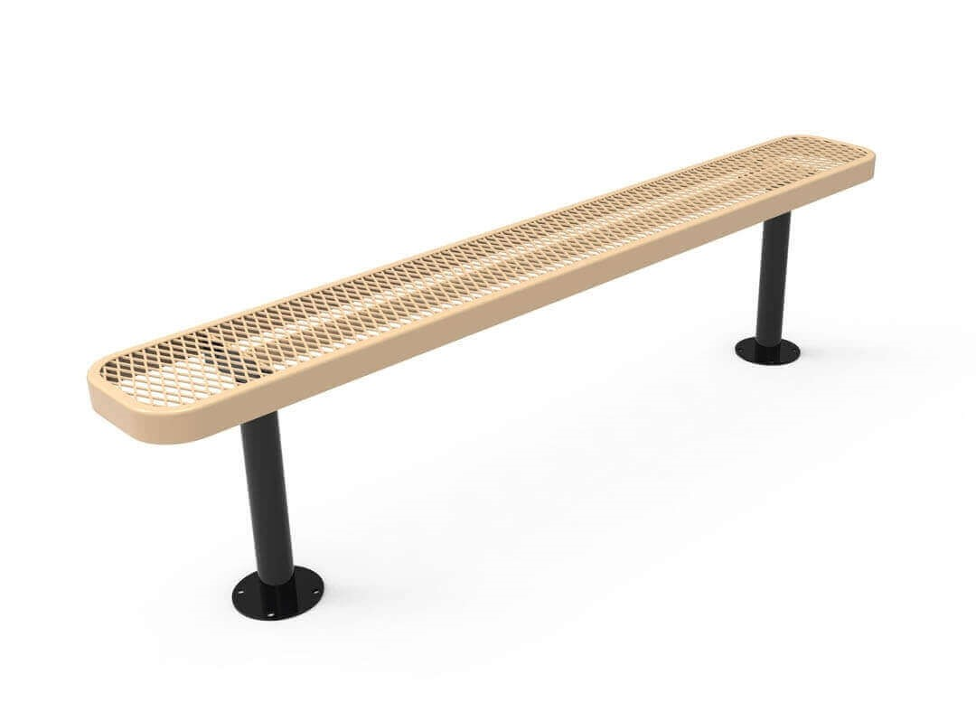 Rhino 8 Ft Thermoplastic Polyolefin Coated Pedestal Bench