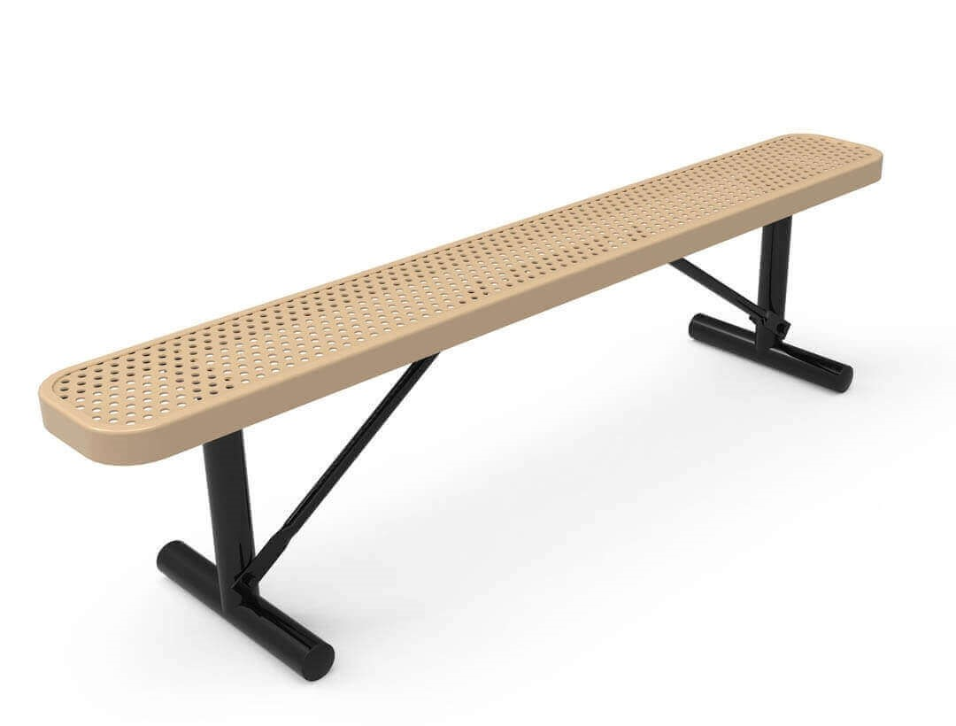 Rhino 8 Ft Thermoplastic Polyolefin Coated Portable Bench Without Back Furniture Leisure