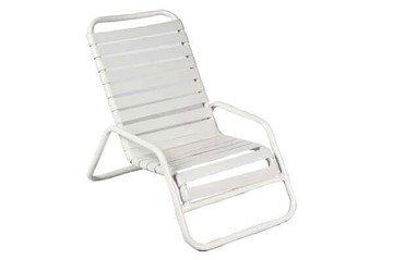 Quick Ship St. Maarten Vinyl Strap Sand Chair - Commercial Aluminum Frame