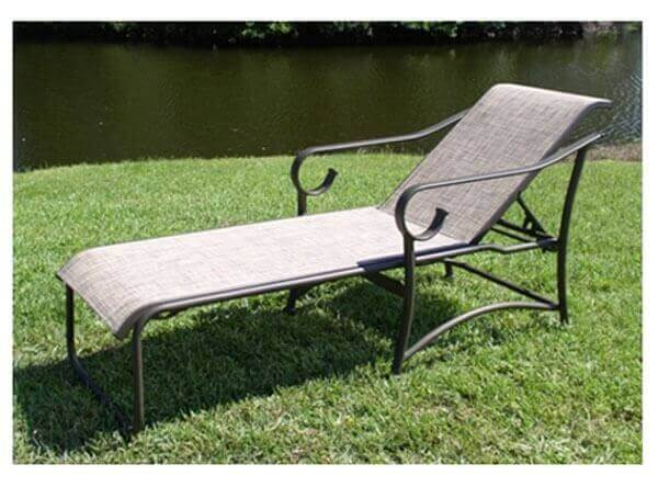 Tradewind Chaise Lounge Commercial Aluminum Frame With