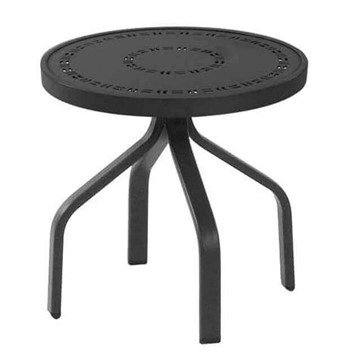 Round Punched Aluminum Side Table With Commercial Aluminum Frame