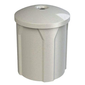 42 Gallon Plastic Receptacle with Mushroom Lid & Liner