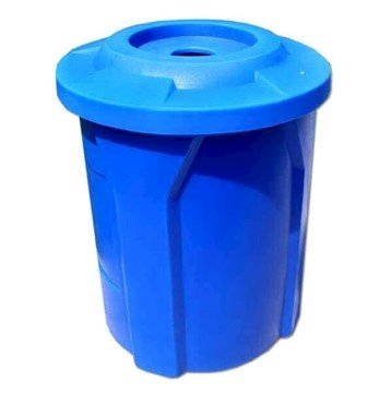 "42 Gallon Plastic Receptacle with 4"" Recycle Lid & Liner"